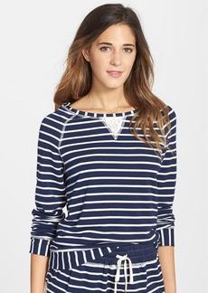 Splendid Lace Inset Stripe Pullover