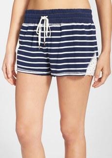 Splendid Lace Trim Stripe Sleep Shorts