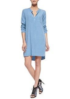 Splendid Long-Sleeve Shirtdress W/ Pocket