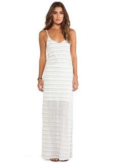 Splendid Marina Eyelet Stripe Dress in Gray