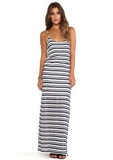 Splendid Marina Eyelet Stripe Dress in Navy