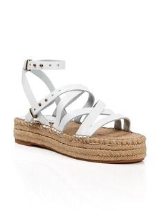Splendid Open Toe Flat Platform Espadrille Sandals - Erin