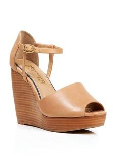 Splendid Open Toe Platform Wedge Sandals - Davie