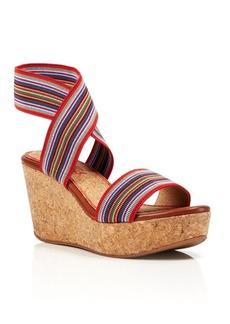 Splendid Open Toe Platform Wedge Sandals - Geena