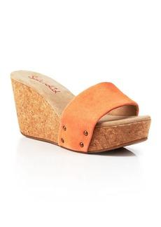 Splendid Open Toe Wedge Sandals - Greenville