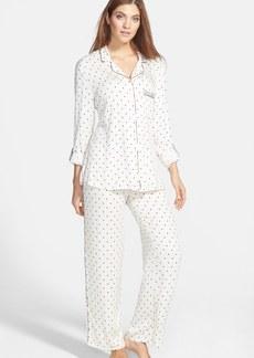 Splendid Piped Notch Collar Pajamas