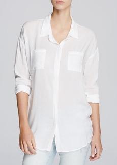 Splendid Rayon Voile Tunic Shirt