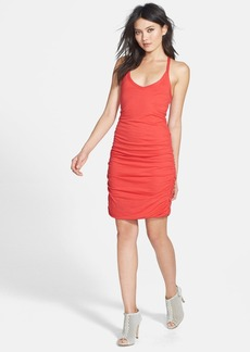 Splendid Ruched Racerback Minidress
