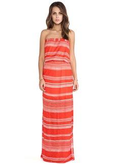 Splendid Safari Stripe Strapless Maxi Dress