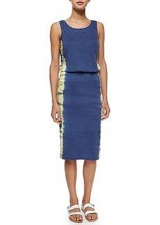 Splendid Sleeveless Tie Dye Jersey Dress, Navy