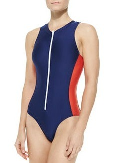 Splendid Soft Cup One-Piece Swimsuit, Navy