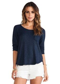Splendid Soft Melange French Terry Sweatshirt in Navy