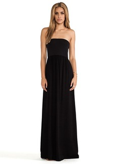 Splendid Strapless Maxi Dress in Black