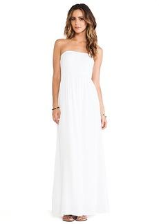 Splendid Strapless Maxi Dress in White