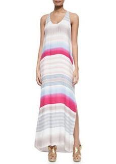 Splendid Striped Maxi Dress, Raspberry/Clay