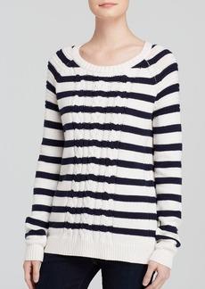 Splendid Sweater - East Port Cable Knit Stripe
