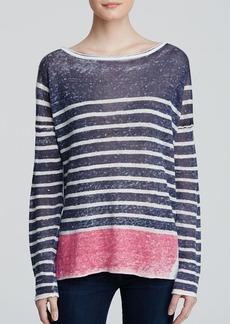 Splendid Sweater - Striped Linen
