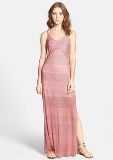 Splendid Textured Stripe Maxi Dress