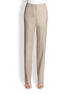 St. John Chevron Straight-Leg Pants