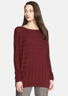 St. John Collection Angled Rib Knit Sweater