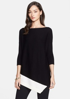 St. John Collection Asymmetrical Merino Wool Sweater