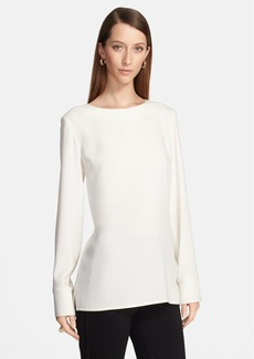 St. John Collection Back Zip Crepe Blouse