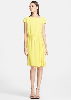 St. John Collection Bateau Neck Luxe Crepe Blouson Dress
