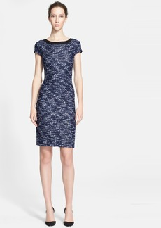 St. John Collection Bouclé Ribbon Knit Dress