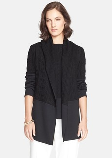 St. John Collection Cable & Milano Knit Jacket