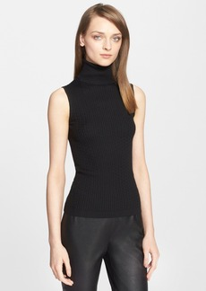 St. John Collection Cable Knit Turtleneck Shell