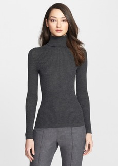 St. John Collection Cable Knit Turtleneck Sweater