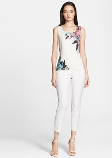 St. John Collection Collage Floral Print Shell