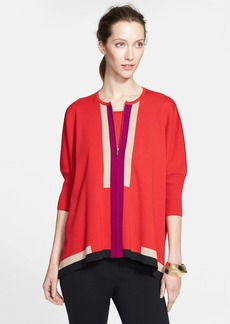 St. John Collection Colorblock Milano Knit Cardigan