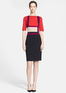 St. John Collection Colorblock Milano Knit Dress