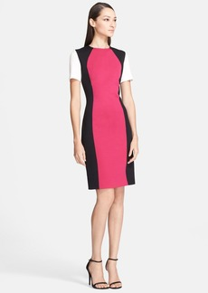 St. John Collection Colorblock Milano Knit Sheath Dress