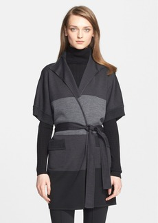 St. John Collection Colorblock Milano Knit Topper