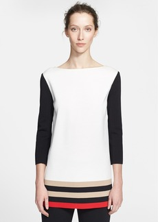St. John Collection Colorblock Milano Knit Tunic