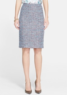 St. John Collection Confetti Tweed Knit Pencil Skirt