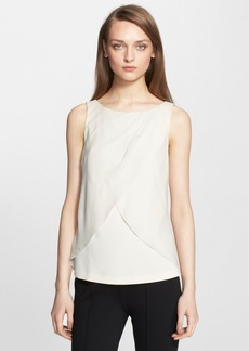 St. John Collection Crepe Cady Shell with Georgette Overlay