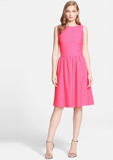 St. John Collection Crinkle Twill Knit Dress