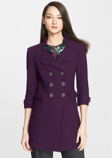 St. John Collection Crosshatch Knit Wool Blend Jacket