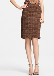 St. John Collection Crosshatch Tweed Knit Skirt