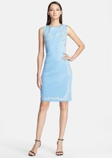 St. John Collection Crystal Embellished Shimmer Milano Knit Dress