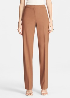 St. John Collection 'Diana' Tropical Wool Straight Leg Pants