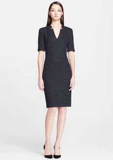 St. John Collection Donegal Tweed Knit Pencil Dress