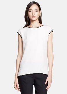 St. John Collection Dotted Silk Fil Coupe Top