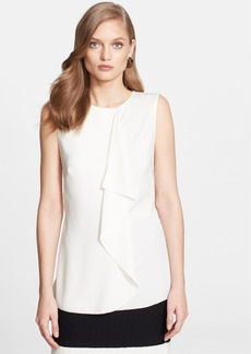 St. John Collection Drape Detail Luxe Crepe Top
