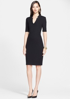St. John Collection Elbow Sleeve Milano Knit Dress