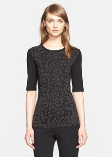 St. John Collection Embellished Jersey Tee (Nordstrom Exclusive)