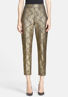 St. John Collection 'Emma' Gilded Lace Crop Pants